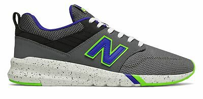New Balance Men's 009 Shoes Grey with Blue & Green