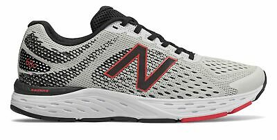 New Balance Men's 680v6 Shoes White with Black & Red