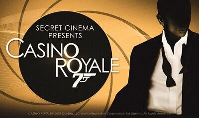 Secret Cinema Tickets Casino Royale August 4th