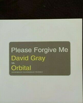David Gray Vs Orbital Please Forgive Me CD Promo Only Single