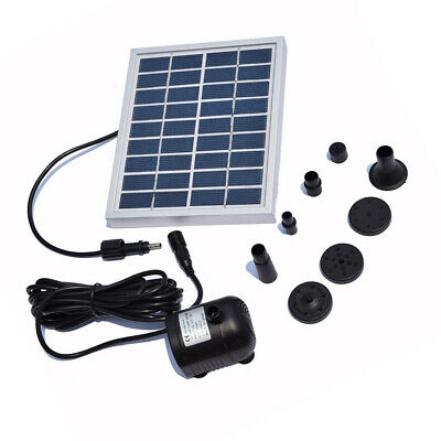 Solar Powered Water Pump Outdoor Submersible Water Fountain for Pool Spout Patio