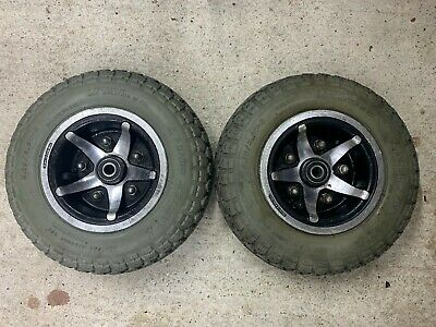 Pride Celebrity XL8 Front Wheels & Tyres 4.10/3.50-6 Mobility Scooter Spare Part
