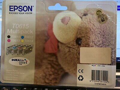 Epson Original T0615 Black and Colours Multipack Ink Cartridges expiry 09/2017