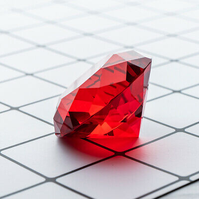 Red Crystal Glass Diamond Paperweights Wedding Home Christmas Decor Gift 50mm