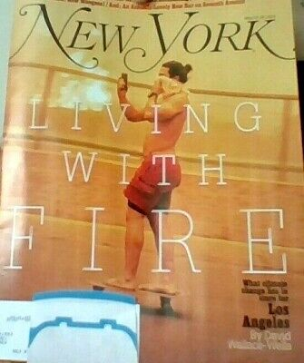 "New York Magazine MAY 13-26, 2019 ""Living With Fire"" CLIMATE CHANGE New w/ label"