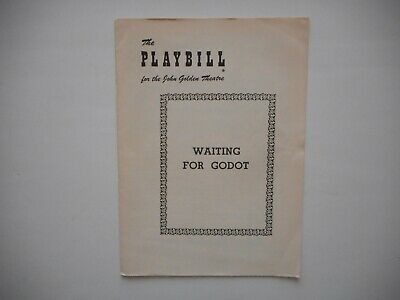"""EXTREMELY RARE: May 28, 1956 Playbill for """"WAITING FOR GODOT"""" Samuel Beckett VG+"""