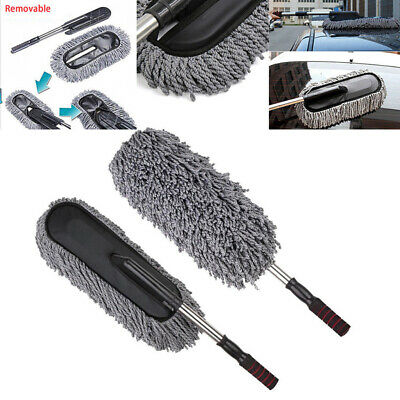 LARGE Car Cleaning Duster Car Or Home Microfiber Wax Treated Handle Brush Tool