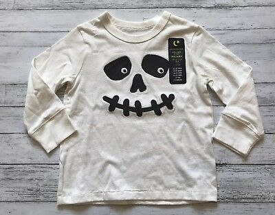 NWT Baby Gap Halloween Skeleton Shirt 2 Y Glow In The Dark