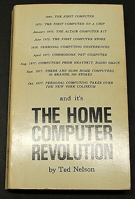 Very Rare The Home Computer Revolution By Theodore Nelson Ships Worldwide