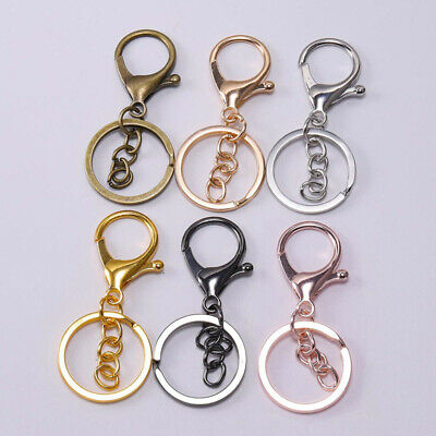 5Pcs/Set Round Lobster Trigger Swivel Clasps Clips Hook Key Chain Keyring