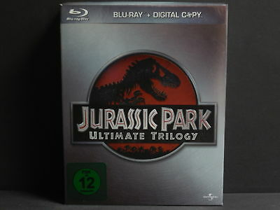 signed by SAM NEILL - JURASSIC PARK 1-3, Ultimate Trilogy (3 Blu-ray Digipack)