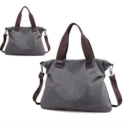 Women Vintage Canvas Shoulder Messenger Bag Handbag Travel Large Satchel Tote US