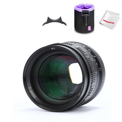 Brightin Star 50mm F1.4 Large Aperture Lens for Fuji X-mount Mirrorless +Pouch
