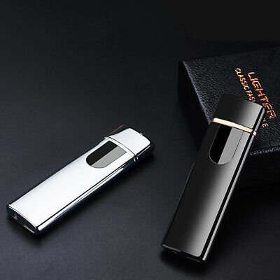 USB Charging Electric Rechargeable Flameless Windproof Touch Cigarette Lighter