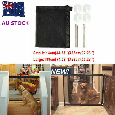 Magic Dog Gate Pet Safety Guard Portable Folding Safe Net for Dog Baby Enclosure