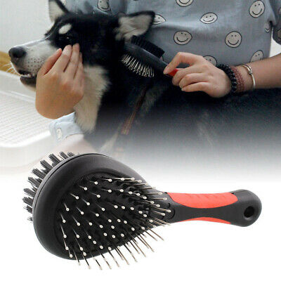 Double-Sided Pet Brush Dog Cat Puppy Hair Grooming Fur Shedding Clean Comb Sale