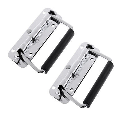 2xSilver Spring Drop Handle for Flight Case/Speaker Cabinet/Home/Garage/Boat