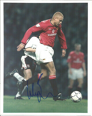 Football Autograph Wes Brown Manchester United Signed Photograph F1380