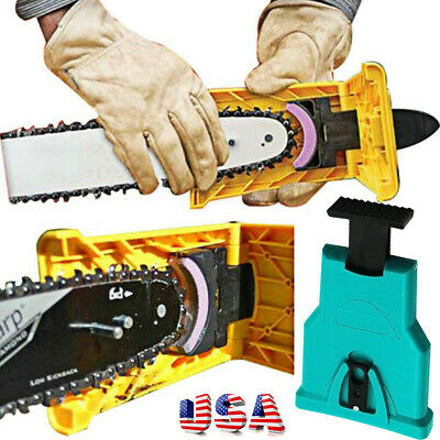 US STOCK Easy File Chainsaw Teeth Chain Sharpener Tool Sharpening for Woodwork
