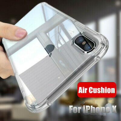 For iPhone XS Max XR X 8 7 6s Plus Four Bumper Full Protect Clear TPU Case Cover
