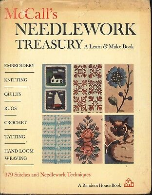 McCall's Needlework Treasury 1964 Stitches Technique Embroidery Knitting Crochet