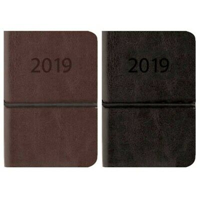 2123 2019 Week to View Pocket Diary Handy Organiser Flexi PU Leatherette Cover