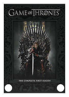 Game of Thrones Series 1 Complete (DVD, 2012, 5-Disc Set) Watched once.
