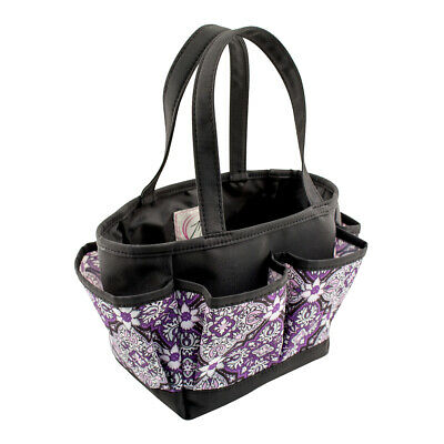 Mini Crafters Tote Purple Damask 26 x 17 x 15cm | Everything Mary EVM10496-1