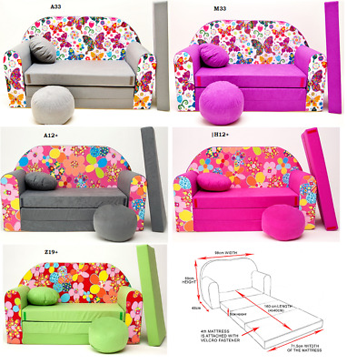 Kids Sofa Bed Sleepover Futon Cotton