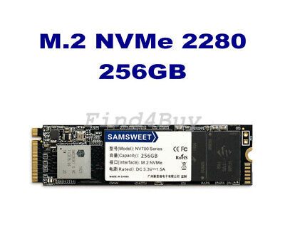 SamSweet M.2 256GB SSD M.2 2280 M-Key NVMe 1.3 PCIe 3.0 Solid State Drives