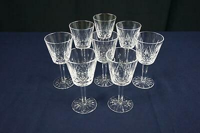 "Waterford Crystal Lismore Claret Wine Glasses - 5-7/8"" - Set Of 8"