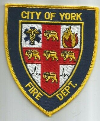 "City of York  Fire Dept., Pennsylvania  (4"" x 4.5"" size) fire patch"