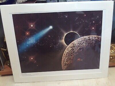 Frank Kelly Freas Starblaze Editions Poster/Print 'Space Probe' 1978 Mounted