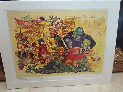 Frank Kelly Freas Starblaze Editions Poster/Print 'Another Fine Myth...' 1978