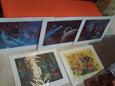 Frank Kelly Freas Starblaze Editions Poster/Print 'Ruins of Isis' 1978 Mounted