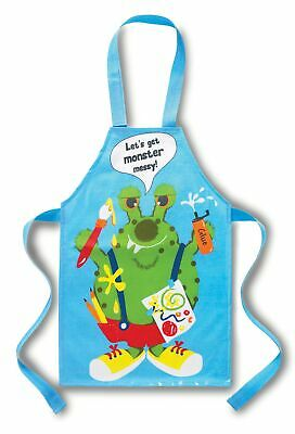 Cooksmart Infantil Recubierto de PVC Cotteon Delantal Monster Lioso Azul 2-4