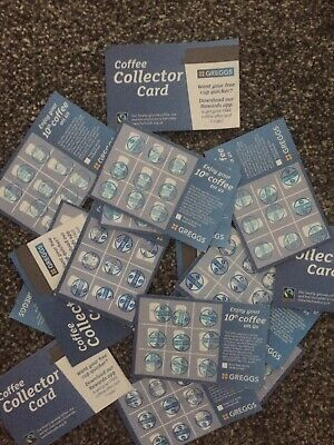 ☆GREGGS☆ 16  SIXTEEN Full Cards, Stamped With The Up To Date Blue Stamp December