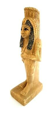 Giant Egyptian Antiques Queen Figurine Ancient Faience Pharaoh Stone Sculpture