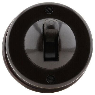 Crabtree Bakelite Brown Ceramic Toggle Light Switch 2Way with Recessed Base