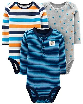 Carters Premature 3 Pack Bodysuits Preemie Long Sleeve Mommy's Handsome Guy