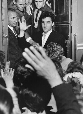 8x10 Print Elvis Presley Fred Astaire Candid Party #EP939