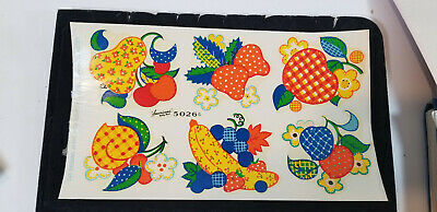 Vintage DECALS American's Betty Best Decalcomania FRUIT Full Sheet