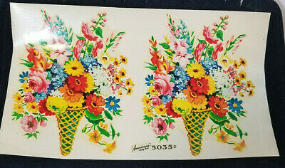 Vintage DECALS American's Betty Best Decalcomania FLOWER BOUQUET Full Sheet