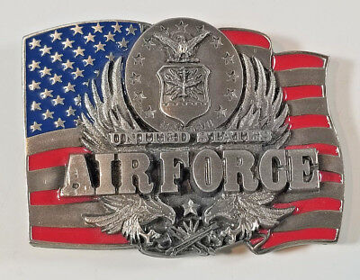 Vintage 1991 Siskiyou AIR FORCE Enamel and Cast Metal BELT BUCKLE