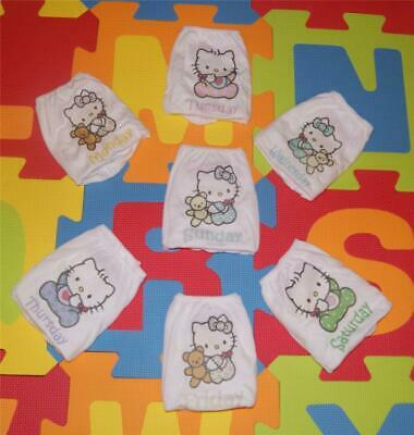 """ADULT BABY LITTLE GIRL KNICKERS """"HELLO KITTY"""" DAYS OF THE WEEK, ( 7 pairs)"""