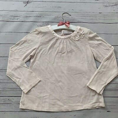 Girls 5-6 Years - Long Sleeved T-shirt - LITTLE WHTE COMPANY PINK Floral Top