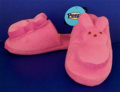 f3ee0aedc NEW PEEPS JUST BORN WOMENS GIRLS PINK PLUSH BUNNY EASTER SLIPPERS sz M NWT