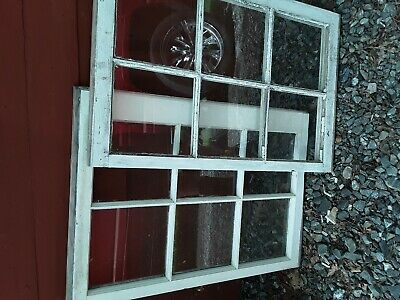 2 - 28 x 19 Vintage Window sash old 6 pane From 1940s Arts & Craft