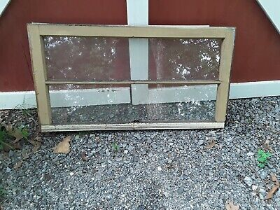 VINTAGE top SASH WOOD ANTIQUE WINDOW PICTURE FRAME PINTEREST 2 PANE 36x20
