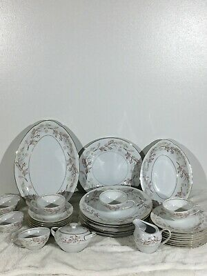 Vintage Harmony House Wood-hue Fine China 34 Pc. Dinnerware Set - made in Japan